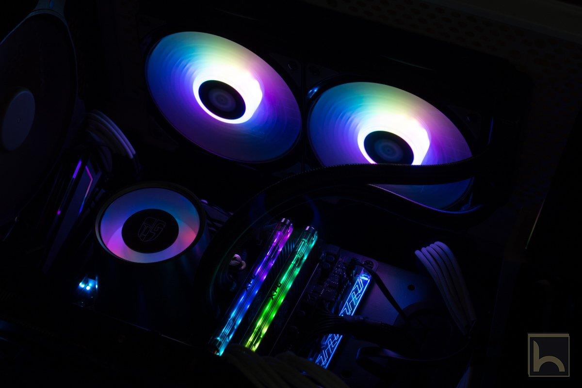مراجعة المبرد المائى Deepccol Castle 240 RGB صاحب التصميم الجمالى