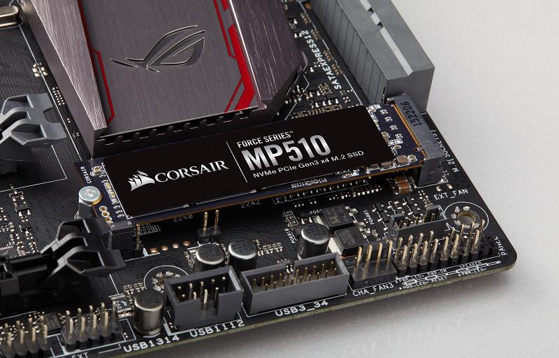 شركة Corsair تعلن عن Force Series MP510 M.2 PCIe NMVe SSD اسرع قرص تشغيل