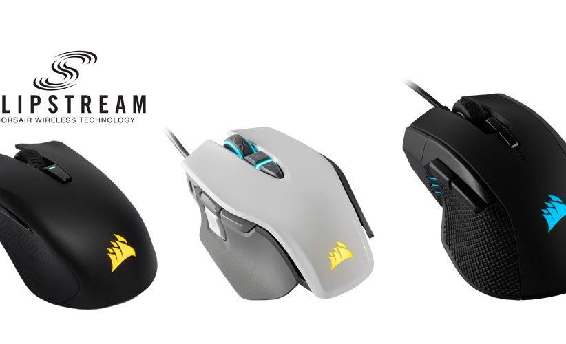 تعلن Corsair عن ثلاثة ماوسات ألعاب بالاضافة الى تكنولوجيا SLIPSTREAM اللاسلكية