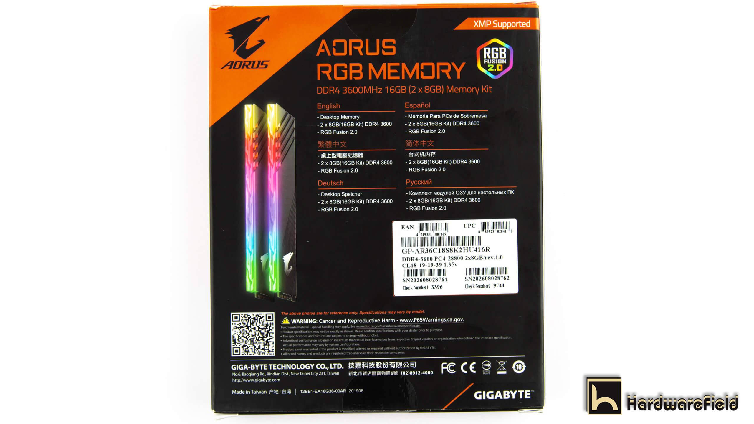 AORUS RGB MEMORY 2